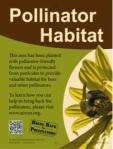 Pollinator sign